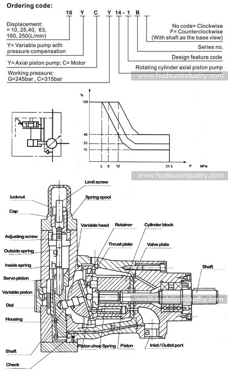 variable-displacement-axial-piston-pump-YCY-