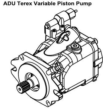 Terex-Variable-Piston-Pump,-Terex-Parts-20017480-For-Terex-3307,-TR50-Truck-figure