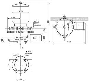 Lubrication-pump-DDB18,36-dimensions